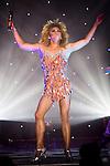 """© Joel Goodman - 07973 332324 . 26/06/2013 . Manchester , UK . Tina Turner spoof as part of the show . The Ladyboys of Bangkok perform their show , """" Glamorous Amorous """" at the Sabai Pavilion , in Manchester , as part of their 2013 UK tour . Photo credit : Joel Goodman"""
