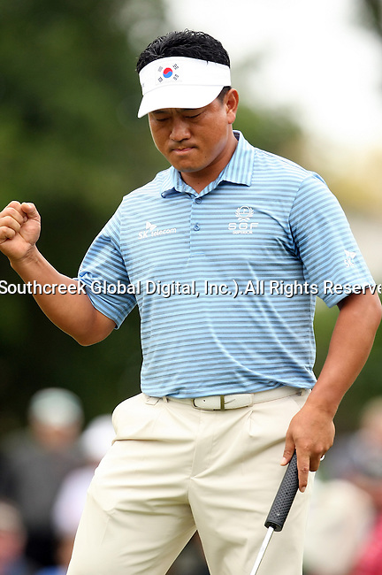 21 March 2010:  K.J. Choi, ties Jim Furyk with a birdie putt but placed second at the Transitions Championship Tournament at Innisbrook Golf Resort in Palm Harbor, Florida.