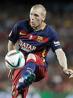 FC Barcelona's Jeremy Mathieu during Supercup of Spain 2nd match.August 17,2015. (ALTERPHOTOS/Acero)