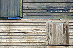 Close-up of side of historic house in Old Bank, Isla Bastimentos, Bocas del Toro, Panama
