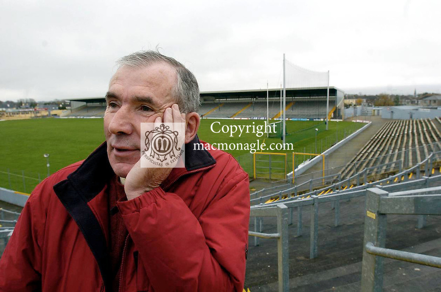 ARENA FEATURE....Terrace Talk presenter Weeshie Fogarty pictured in Fitzgerald Stadium, Killarney..Picture by Don MacMonagle