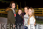 Enjoying the Brosna GAA fundraiser at the Kingdom Greyhound Stadium on Saturday night were l-r  Clodagh Fitzgerald, Erica Cronin, Sarah Connelly and Aisling Moloney.
