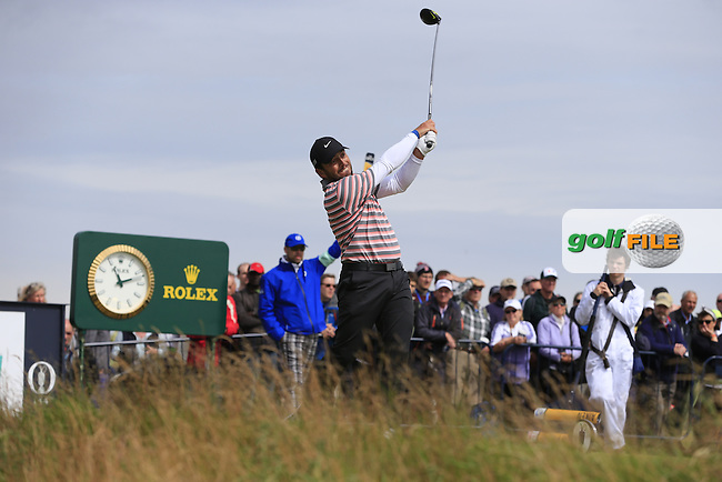 Florian FRITSCH (GER) tees off the 17th tee during Monday's Final Round of the 144th Open Championship, St Andrews Old Course, St Andrews, Fife, Scotland. 20/07/2015.<br /> Picture Eoin Clarke, www.golffile.ie