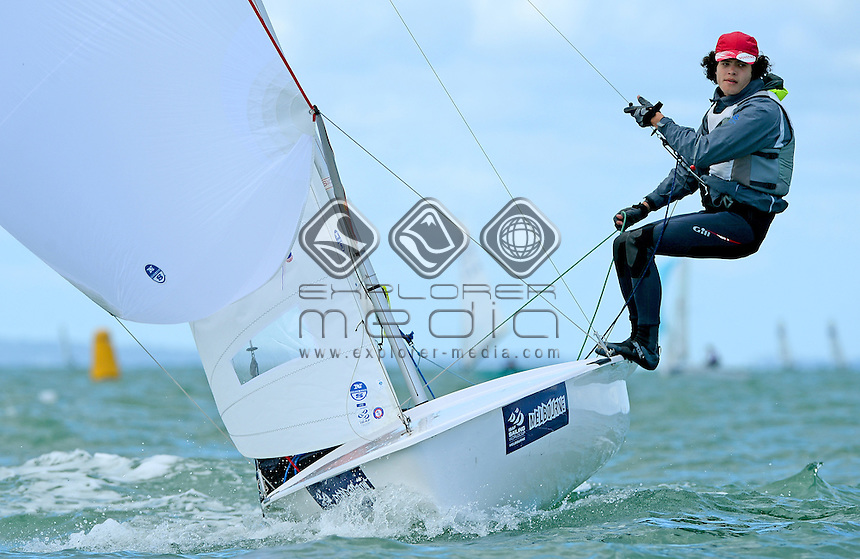 420 / Will FOX &amp; James OLIVER (AUS)<br /> 2013 ISAF Sailing World Cup - Melbourne<br /> Sail Melbourne - The Asia Pacific Regatta<br /> Sandringham Yacht Club, Victoria<br /> December 1st - 8th 2013<br /> &copy; Sport the library / Jeff Crow