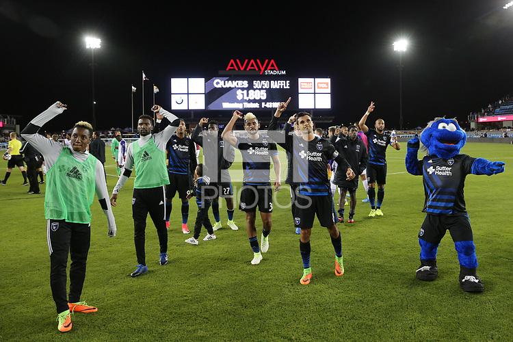San Jose, CA - Wednesday May 17, 2017: San Jose Earthquakes, Chris Wondolowski during a Major League Soccer (MLS) match between the San Jose Earthquakes and Orlando City SC at Avaya Stadium.