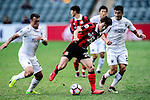 Auckland City Midfielder Clayton Lewis (l) fights for the ball with FC Seoul Midfielder Lee Seok Hyun (r) during the 2017 Lunar New Year Cup match between Auckland City FC (NZL) vs FC Seoul (KOR) on January 28, 2017 in Hong Kong, Hong Kong. Photo by Marcio Rodrigo Machado/Power Sport Images