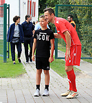 06.07.2019, Stadion an der Wuhlheide, Berlin, GER, 2.FBL, 1.FC UNION BERLIN , Mannschaftsfoto, Portraits, <br /> DFL  regulations prohibit any use of photographs as image sequences and/or quasi-video<br /> im Bild Christian Gentner (1.FC Union Berlin #62), Unionfan<br /> <br /> <br />      <br /> Foto © nordphoto / Engler