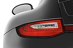 Tail light close up detail view of a 2009 Porsche Carrera 4S Coupe