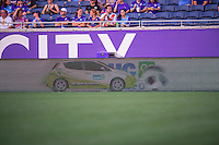 Orlando, FL - Thursday June 23, 2016: Fieldboard prior to a regular season National Women's Soccer League (NWSL) match between the Orlando Pride and the Houston Dash at Camping World Stadium.