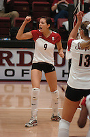 10 November 2005: Jennifer Wilson during Stanford's 3-0 win over ASU at Maples Pavilion in Stanford, CA.
