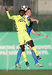 FK Trakai v St Johnstone…06.07.17… Europa League 1st Qualifying Round 2nd Leg, Vilnius, Lithuania.<br />Oscar Dorley and Liam Craig<br />Picture by Graeme Hart.<br />Copyright Perthshire Picture Agency<br />Tel: 01738 623350  Mobile: 07990 594431