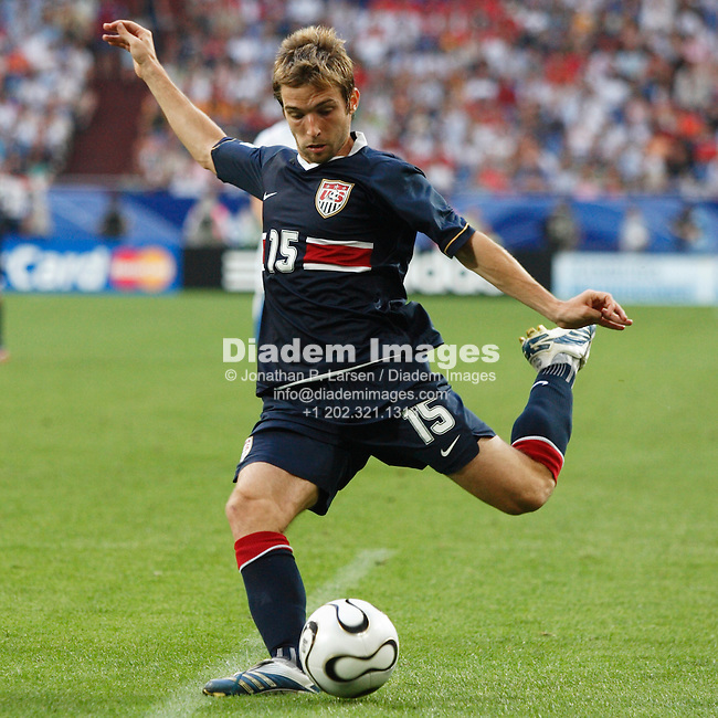 GELSENKIRCHEN, GERMANY - JUNE 12:  Bobby Convey of the United States sets to kick the ball during a FIFA World Cup soccer match against the Czech Republic June 12, 2006 in Gelsenkirchen, Germany.  (Photograph by Jonathan P. Larsen)