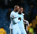 Wilfried Bony of Manchester City smiles as he walks off with Eliaquim Mangala of Manchester City - Barclays Premier League - Manchester City vs Newcastle Utd - Etihad Stadium - Manchester - England - 21st February 2015 - Picture Simon Bellis/Sportimage