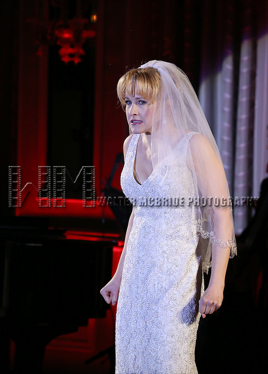 Katie Finneran performs during the Drama League's 30th Annual 'Musical Celebration of Broadway' honoring Neil Patrick Harris at the Pierre Hotel on February 3, 2014 in New York City.