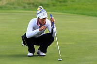 Azahara Munoz of Team Europe on the 2nd green during Day 2 Fourball at the Solheim Cup 2019, Gleneagles Golf CLub, Auchterarder, Perthshire, Scotland. 14/09/2019.<br /> Picture Thos Caffrey / Golffile.ie<br /> <br /> All photo usage must carry mandatory copyright credit (© Golffile | Thos Caffrey)