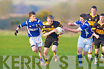 Greig Horan Austin Stacks and Fionn O'Shea left and Dylan Costello Laune Rangers..