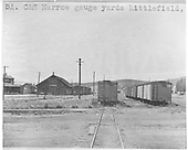 C&amp;S boxcars in Leadville yards.  This print is marked &quot;5A. C&amp;S Narroe gauge yards Littlefield,&quot;, but it's Leadville.<br /> C&amp;S  Leadville, CO