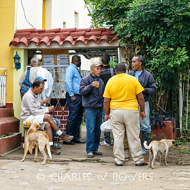 Faces Of Cuba - morning coffee klatch before work in Vinales<br />