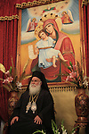 Israel, Lower Galilee, Kyriakos the Metropolitan of Nazareth on Easter Tuesday at the Greek Orthodox Metropolite