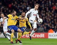 Christian Eriksen of Tottenham Hotspur during Tottenham Hotspur vs Juventus, UEFA Champions League Football at Wembley Stadium on 7th March 2018