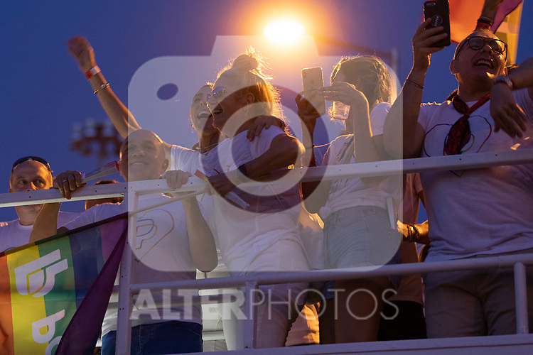 Presenter Paz Padilla in manifestation of the lgtb pride party of Madrid. July 6, 2019. (ALTERPHOTOS/JOHANA HERNANDEZ)
