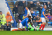 Alex Lacey of Gillingham scores the second goal and celebrates during Portsmouth vs Gillingham, Sky Bet EFL League 1 Football at Fratton Park on 6th October 2018