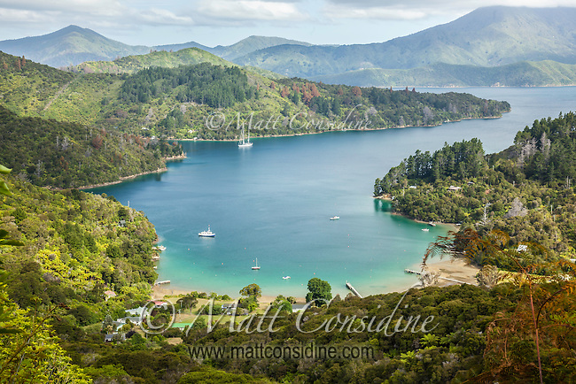 Great anchorage in this protected bay in Marlborough Sounds. (Photo by Travel Photographer Matt Considine)