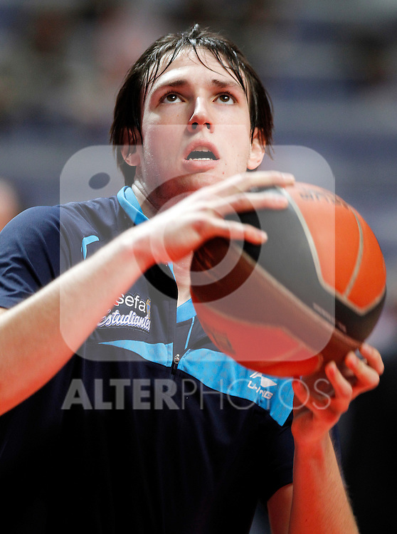 Asefa Estudiantes' Edu Martinez during Liga Endesa ACB match.April 15,2012. (ALTERPHOTOS/Acero)