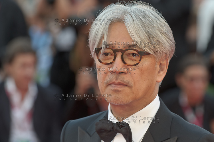 "Ryuichi Sakamoto attends ""The Gravity"" photocall during the 70th Venice Film Festival in Italy, on  August 28, 2013. (Photo by Adamo Di Loreto/BuenaVista*photo)"