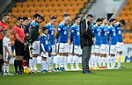 St Johnstone v Hamilton Accies&hellip;10.11.18&hellip;   McDiarmid Park    SPFL<br />St Johnstone Pastor Reverend Dave Barrie leads the Remembrance Day silence ahead of the game<br />Picture by Graeme Hart. <br />Copyright Perthshire Picture Agency<br />Tel: 01738 623350  Mobile: 07990 594431