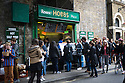 London, UK. 25.10.2014. Hobbs shop, selling rolls filled with roast meat, at Borough Market, Southwark. Photograph © Jane Hobson.