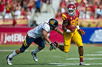 LOS ANGELES, CA - September 22, 2012:  USC tight end Xavier Grimble (86) during the USC Trojans vs the Cal Bears at the Los Angeles Memorial Coliseum in Los Angeles, CA. Final score USC 27, Cal 9.