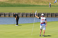Shane Lowry (IRL) on the 2nd green during Round 1 of the HNA Open De France at Le Golf National in Saint-Quentin-En-Yvelines, Paris, France on Thursday 28th June 2018.<br /> Picture:  Thos Caffrey | Golffile