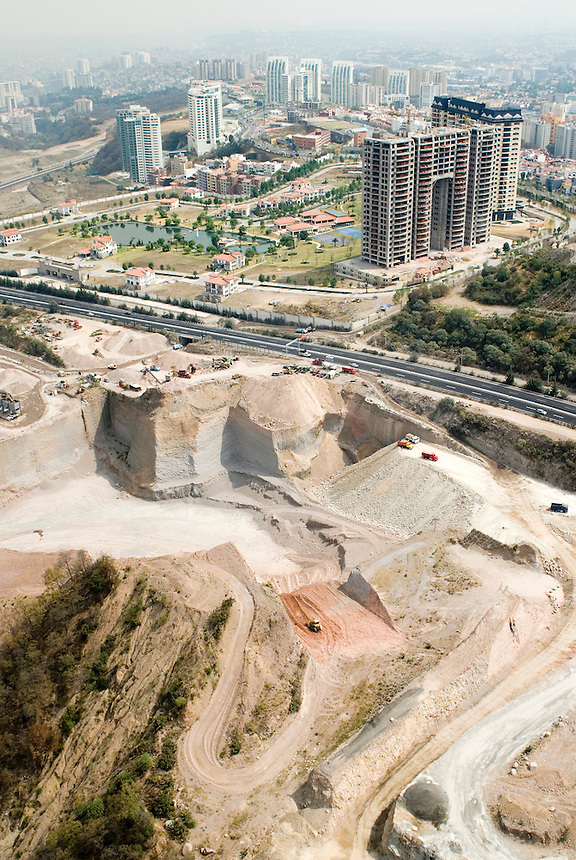 Luxury residential zone under development in the wealthy interlomas area of Mexico City.  Aerial shots of Mexico City