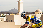 Maxime Farazijn (BEL) Sport Vlaanderen-Baloise from the breakaway group in action during Stage 1 of the 2018 Tour of Oman running 162.5km from Nizwa to Sultan Qaboos University. 13th February 2018.<br /> Picture: ASO/Muscat Municipality/Kare Dehlie Thorstad | Cyclefile<br /> <br /> <br /> All photos usage must carry mandatory copyright credit (&copy; Cyclefile | ASO/Muscat Municipality/Kare Dehlie Thorstad)