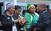Qunu, South Africa: 14.12.2013: NELSON MANDELA BODY RETURNS TO QUNU<br /> MAKAZIWE MANDELA (Mandela's Daughter) AND BANTU HOLOMISA<br /> await the arrival the body of former President Nelsom Mandela at Mthatha Airport in Mthatha in Eastern Cape.<br /> The former President of South Africa Nelson Mandela will be buried in a private cecremony on Sunday 15th December 2013 in Qunu.<br /> Mandatory Credit Photo: &copy;GCIS/NEWSPIX INTERNATIONAL<br /> <br /> **ALL FEES PAYABLE TO: &quot;NEWSPIX INTERNATIONAL&quot;**<br /> <br /> IMMEDIATE CONFIRMATION OF USAGE REQUIRED:<br /> Newspix International, 31 Chinnery Hill, Bishop's Stortford, ENGLAND CM23 3PS<br /> Tel:+441279 324672  ; Fax: +441279656877<br /> Mobile:  07775681153<br /> e-mail: info@newspixinternational.co.uk