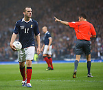 James McFadden stunned after being booked