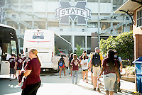 Service Dawgs -- heading off to volunteer sites.<br />