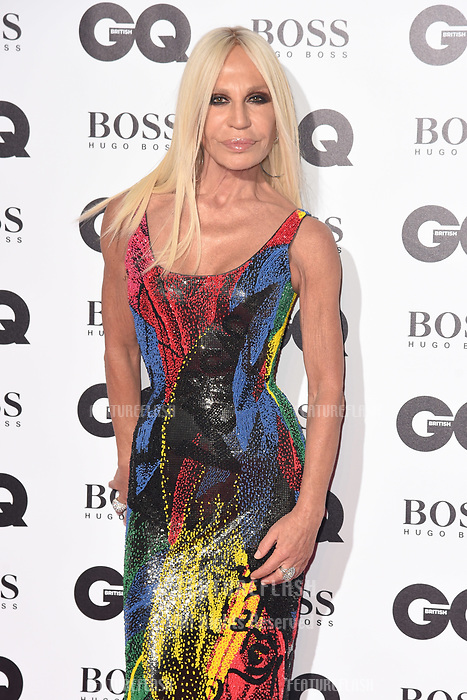 LONDON, UK. September 05, 2018: Donatella Versace at the GQ Men of the Year Awards 2018 at the Tate Modern, London