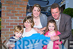 IN MEMORY: The Daly family from Aghadoe, Killarney who made a donation to the Make-A-Wish foundation in memory of their daughter Rebecca 13 who died recently l-r: Daniel, Breeda, Hannah, Linda and John.   Copyright Kerry's Eye 2008