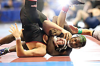 ST. LOUIS, MO - MARCH 15: Ed Ruth of the Penn State Nittany Lions pins Jim Resnick of Rider University in the 174 pound weight class  during the NCAA Wrestling Championships on March 15, 2012 at the ScottTrade Center in St. Louis, Missouri. (Photo by Hunter Martin/Getty Images) *** Local Caption *** Ed Ruth;Jim Resnick