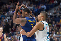 Real Madrid Walter Tavares and FC Barcelona Lassa Kevin Seraphin during Turkish Airlines Euroleague match between Real Madrid and FC Barcelona Lassa at Wizink Center in Madrid, Spain. December 14, 2017. (ALTERPHOTOS/Borja B.Hojas) /NortePhoto.com NORTEPHOTOMEXICO