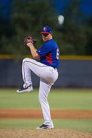 AZL Rangers relief pitcher Kyle Keith (68) gets ready to deliver a warmup pitch during a game against the AZL Padres 2 on August 2, 2017 at the Texas Rangers Spring Training Complex in Surprise, Arizona. Padres 2 defeated the Rangers 6-3. (Zachary Lucy/Four Seam Images)