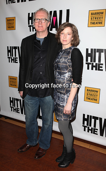 """Tracy Letts & Carrie Coon attending the New York Premiere of the Opening Night Performance of """"Hit The Wall"""" at the Barrow Street Theatre in New York City on 3/10/2013...Credit: McBride/face to face"""