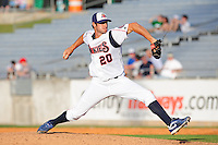 Alex Maestri delivers a pitch at Smokies Park in Sevierville, TN May 21, 2009 (Photo by Tony Farlow/ Four Seam Images)