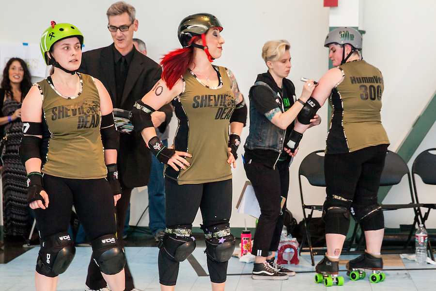The Berkeley Resistance Defeats the San Francisco ShEvil Dead 205 to 153 in 2014 Bay Area Derby Girls Season Opener on Saturday March 1, 2014 in Richmond, California.