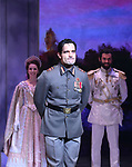 Ramin Karimloo during Broadway Opening Night Performance Curtain Call bows for 'Anastasia' at the Broadhurst Theatre on April 24, 2017 in New York City.