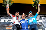 Julian Alaphilippe (FRA) Quick-Step Floors wins La Fleche Wallonne 2018 with Alejandro Valverde (ESP) Movistar Team in 2nd place and Jelle Vanendert (BEL) Lotto Soudal 3rd, running 198.5km from Seraing to Huy, Belgium. 18/04/2018.<br /> Picture: ASO/Karen Edwards | Cyclefile <br /> <br /> All photos usage must carry mandatory copyright credit (&copy; Cyclefile | ASO/Karen Edwards)