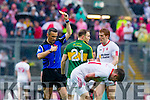 Darran O'Sullivan, Kerry gets a yellow card in the All Ireland Semi Final at Croke Park on Sunday.