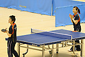 L to R) Koki Niwa, Ai Fukuhara, MARCH 5, 2013 : Ai Fukuhara played table tennis with Koki Niwa at Tokyo Metropolitan Gymnasium, Tokyo, Japan. The IOC evaluation commission, led by Reedie, began a four-day inspection of Tokyo's bid to host the 2020 Olympics. (Photo by Yusuke NakanishiAFLO SPORT)